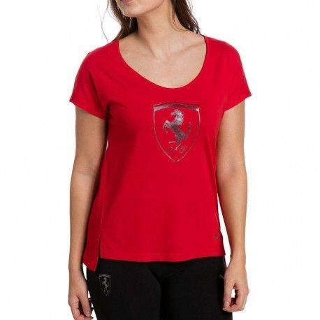 Puma - Tee shirt Ferrari Big Shield Rouge Femme - pas cher Achat   Vente Tee  shirt homme - RueDuCommerce 3618130db74