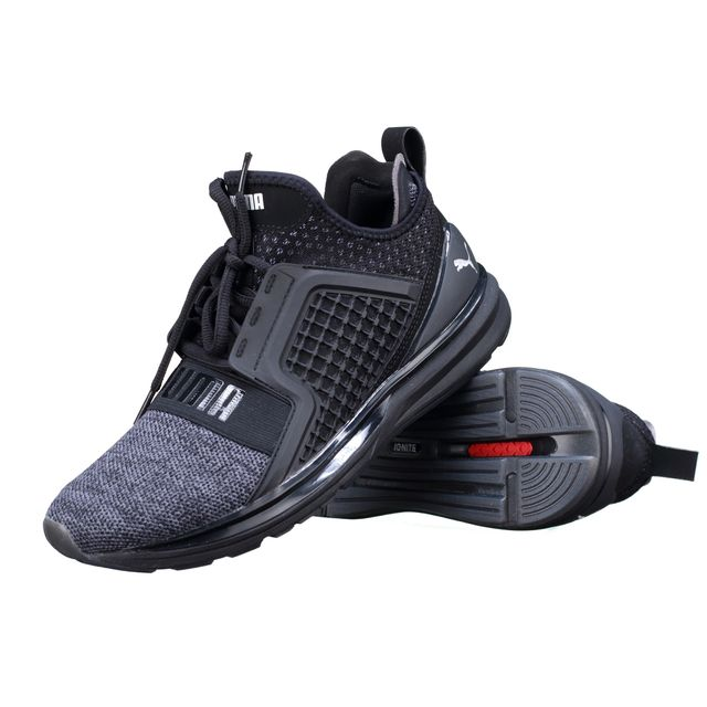 lowest price fb6ff ce81a Puma - Basket Ignite Limitless Knit 189987 - 02 Black - pas cher Achat    Vente Baskets homme - RueDuCommerce