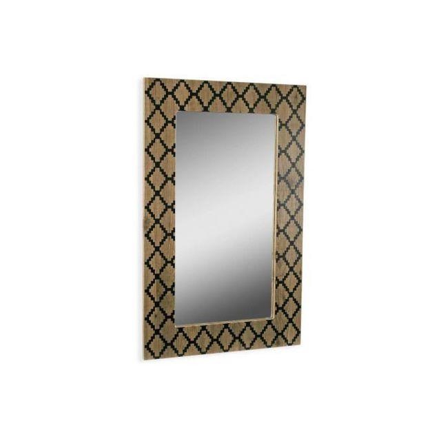 Declikdeco A l'imprimé losanges très tendance, Le Miroir Imprimé Losange En Bois Cody se présente comme un meuble qu'il faut absolu