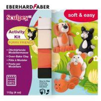 Eberhard Faber - Sculpey Activity Kit Furry Friends - PÂTE À Modeler Durcissante Au Four - 4 Couleurs, 112G
