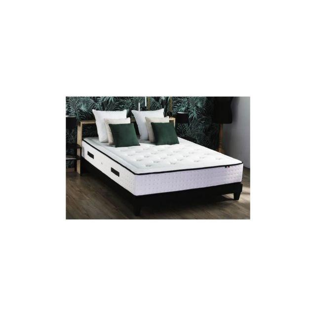Confort Design Ensemble Vendome Matelas + Sommier 160x200 - 100% Francais - Qualite Hotel