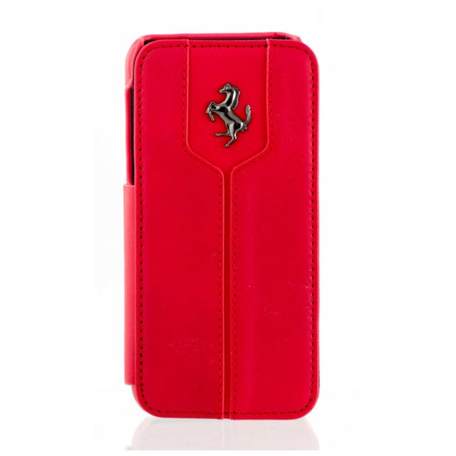 iphone 5c housse ferrari cuir rouge montecarlo