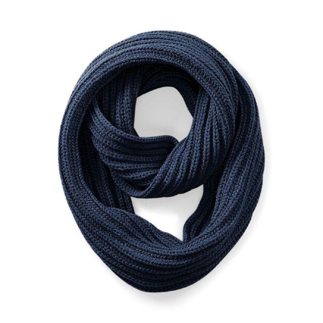1d18f055306 Beechfield - Longue écharpe tricotée - B468 - bleu marine - pas cher ...