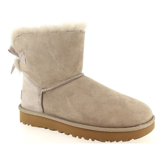 ugg bailey bow grise pas cher