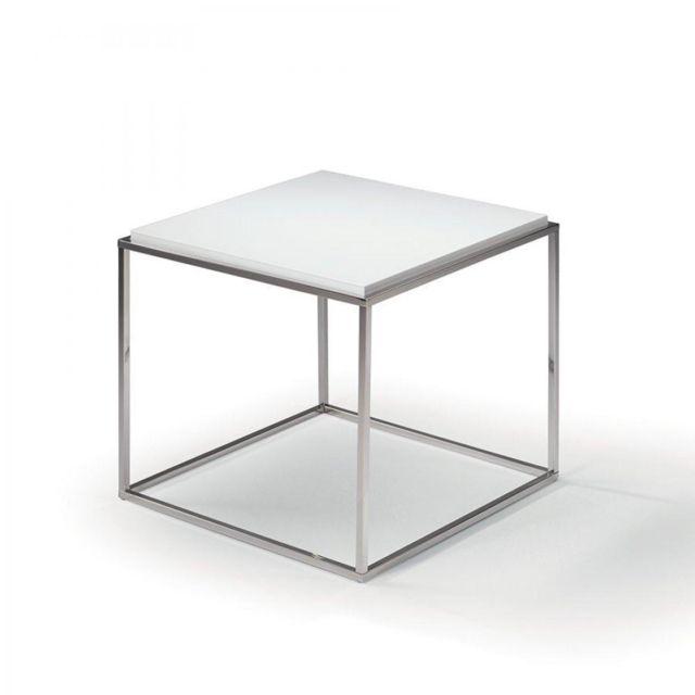 Inside 75 Bout de canapé carré Mimi chêne blanc