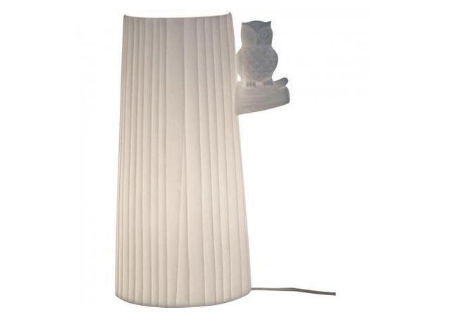 Declikdeco Lampe A Poser En Ceramique Oiseau Sur Un Arbre H24 Macouma