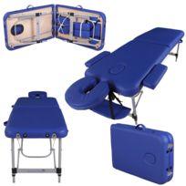 Massage Imperial - Knightsbridge Table de Massage Léger en Aluminum De Luxe - Bleu