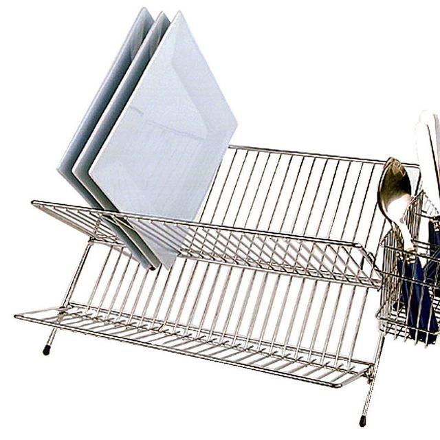 MARQUE GENERIQUE Egouttoir à vaisselle en acier chromé pliable longueur 45 cm 119