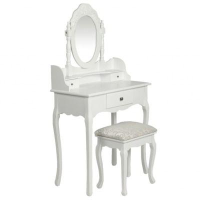 destockoutils coiffeuse blanche avec miroir et si ge pas cher achat vente coiffeuse. Black Bedroom Furniture Sets. Home Design Ideas