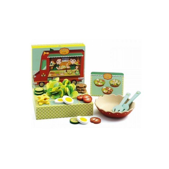 Djeco Atelier salades Rosette et Cesar - Jeu d'imitation cuisine