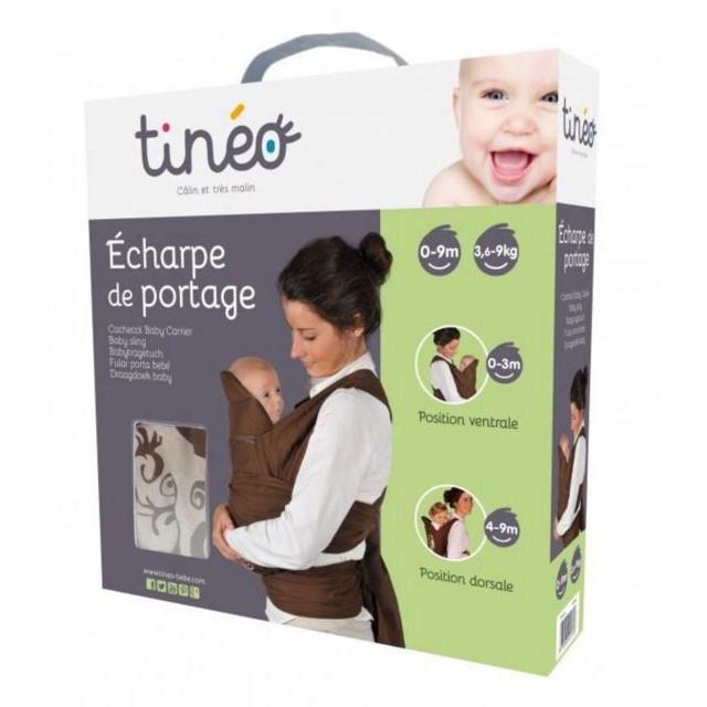 Tineo - Tinéo Echarpe de Portage, Gris Anthracite   Gris Clair ou chocolat 18b15032d4b