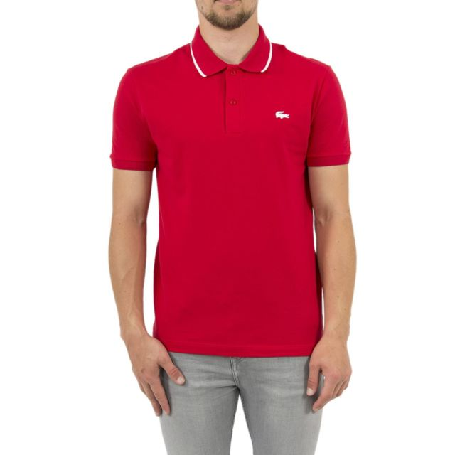 9f2c01ae3885 Homme Pas Cher Ph3155 Polo Rouge Achat Vente Polos Lacoste Igxqtapw8n