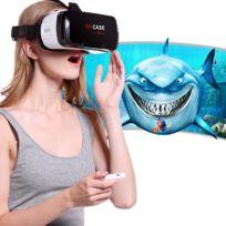Wewoo - Casque Vr pour iPhone, Samsung, Huawei, Xiaomi, 4,7 pouces - 6 Android et iOS Smartphone lunettes de réalité virtuelle 3D avec télécommande Bluetooth