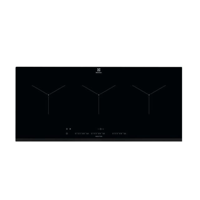 ELECTROLUX table de cuisson induction 91cm 3 feux 6900w noir - eit913