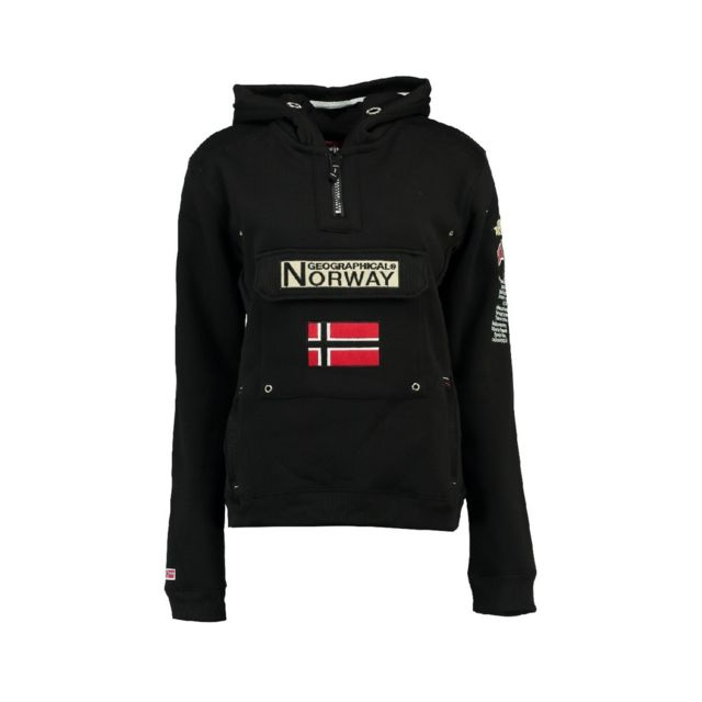 Geographical Norway Sweat Homme Gymclass Db007 Noir pas