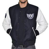 Unkut - Blouson Teddy - Homme - Osaka - Bleu Navy Blanc