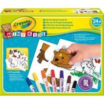 Crayola - Mon 1er puzzle autocollants Mini Kids