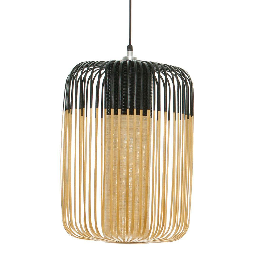 Bamboo - Suspension d'extérieur Bambou/Noir H50cm - Luminaire d'extérieur designé par Arik Levy