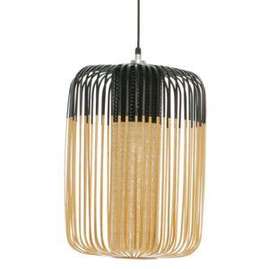 Forestier - Bamboo - Suspension d'extérieur Bambou/Noir H50cm - Luminaire d'extérieur designé par Arik Levy