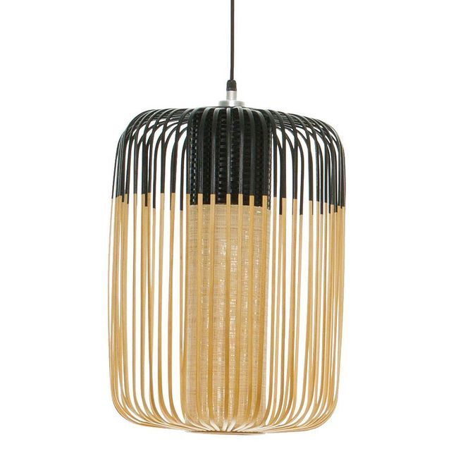 forestier bamboo suspension d 39 ext rieur bambou noir h50cm luminaire d 39 ext rieur design. Black Bedroom Furniture Sets. Home Design Ideas