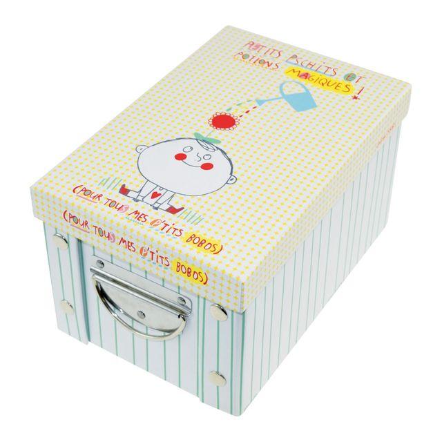 incidence boite de rangement en carton enfant taille s l o lulu bleu pas cher achat. Black Bedroom Furniture Sets. Home Design Ideas