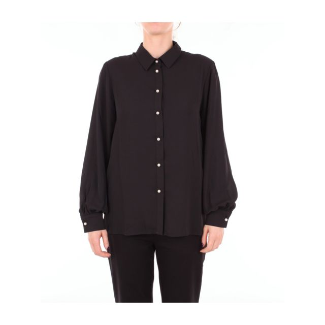 Blugirl Femme A02126301BLACK Noir Polyester Chemise