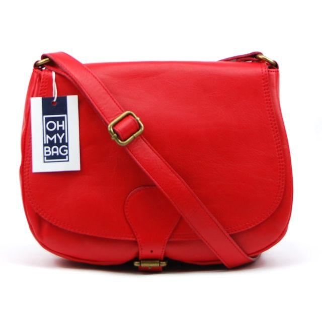 957ec5f811 Oh My Bag - Sac à main en cuir lisse Vintage - pas cher Achat ...