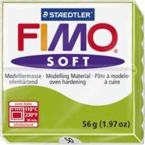 Staedtler - Pâte a modeler a cuire Fimo Soft bloc 56 g vert pomme