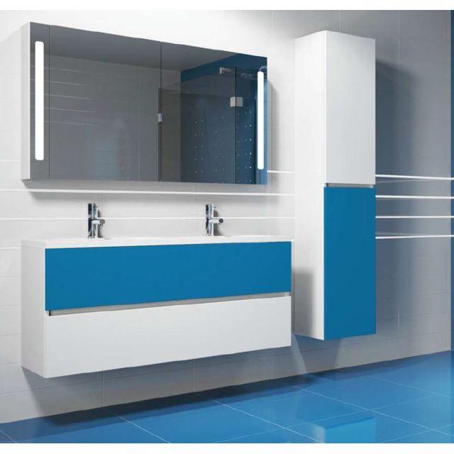 Riho Ensemble meuble & lavabo Cambio Comodo Set 22 en bois laqué brillant 120x46x H 57 cm