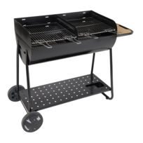 LEBARBECUE - Barbecue charbon CR600 - Surface totale de cuisson : 42 x 93 cm