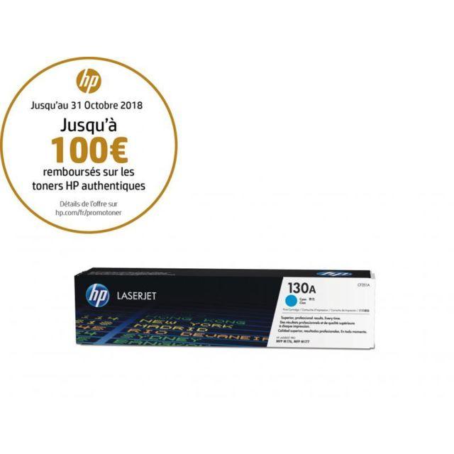 HP CF351A -Toner 130A Cyan HP 130A Toner Cyan authentique pour HP Color LaserJet Pro MFP M176n/177 fw
