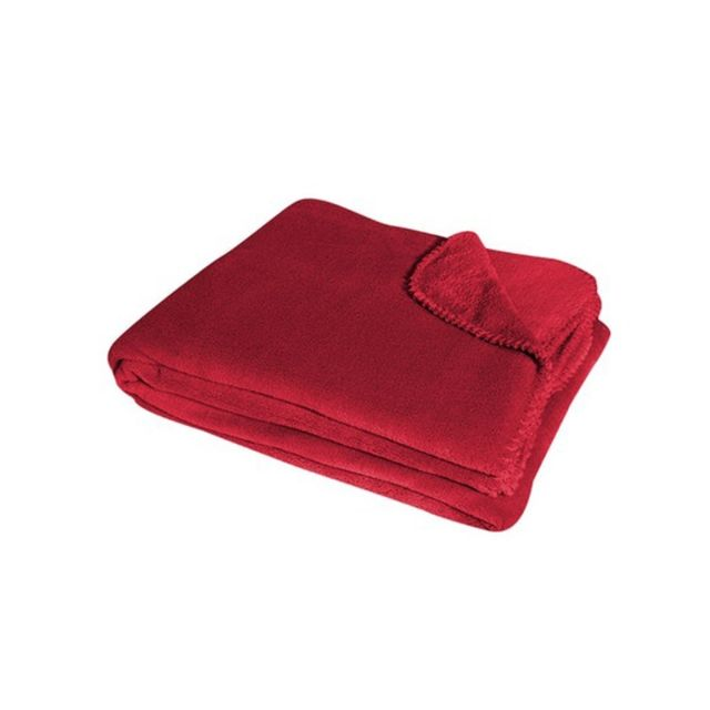 douceur dint/érieur jete de fauteuil 125x150cm coral louna rouge