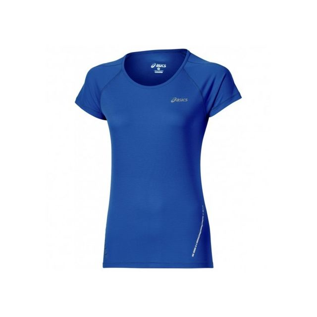 Bleu Asics Femme Top Ss Multicouleur Tee Pas Cher Shirt Running qqfOg