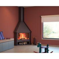 Focgrup - Cheminée d'angle à foyer ouvert Home 13kW Ch03