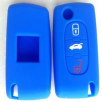 Altium - Housse de clé Peugeot - Citroën 3 boutons - Bleue foncée 650662A
