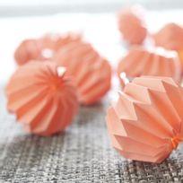 Xmas Living Glass - Paper Flower - Guirlande Lumineuse Origami Corail Led L2,75m - Guirlande et objet lumineux designé par