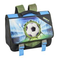 Cartable football noir - 1 Compartiment - L 36cm