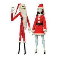 Diamond Select - Peluche - L'Étrange Noël de monsieur Jack pack 2 poupées Santa Jack & Sally Coffin Dolls Limited Edi