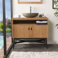 meuble salle bain bois exotique - Achat meuble salle bain bois ... 3e77ffc8b762