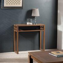 console longueur 80 cm achat console longueur 80 cm pas cher rue du commerce. Black Bedroom Furniture Sets. Home Design Ideas