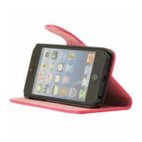 Mocca - étui folio vernis rose fluo iPhone 5 / 5S