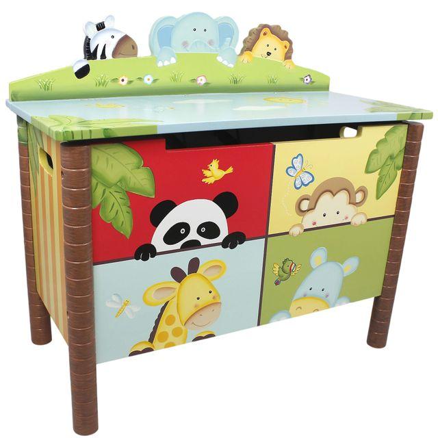 FANTASY FIELDS Coffre à jouets Sunny Safari