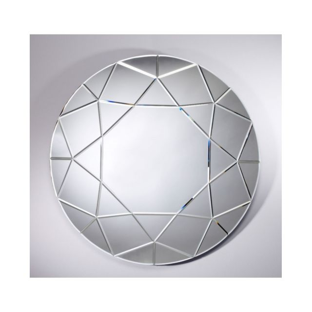 Deknudt Mirrors Miroir Diamond Rond Contemporain Ovale Naturel 90 cm
