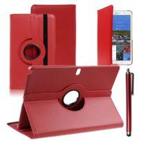 Vcomp - Housse avec support Et Rotation 360° en cuir Pu pour Samsung Galaxy Tab Pro 12.2 Sm-t9000/ Tab Pro 12.2 3G T900/ Tab Pro 12.2 Lte 4G Sm-t905 + stylet - Rouge