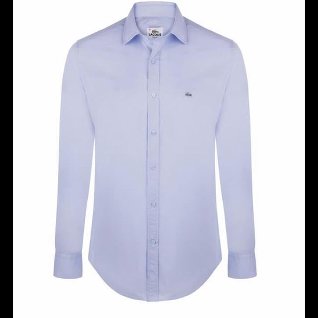 lacoste chemise slim fit bleu ciel ch8766 taille m pas. Black Bedroom Furniture Sets. Home Design Ideas