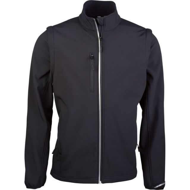 Proact Veste softshell manches amovibles Pa323 - noir - homme