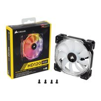 CORSAIR - Ventilateur HD120 RGB LED - High Performance - 120 mm -With Controller