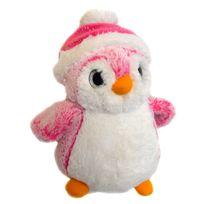 Soft Friends - Peluche Pingouin 23 cm : Bonnet rose