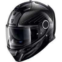 Shark - casque moto intégral en Carbone Spartan Carbon Cliff Daa gris noir brillant Xs
