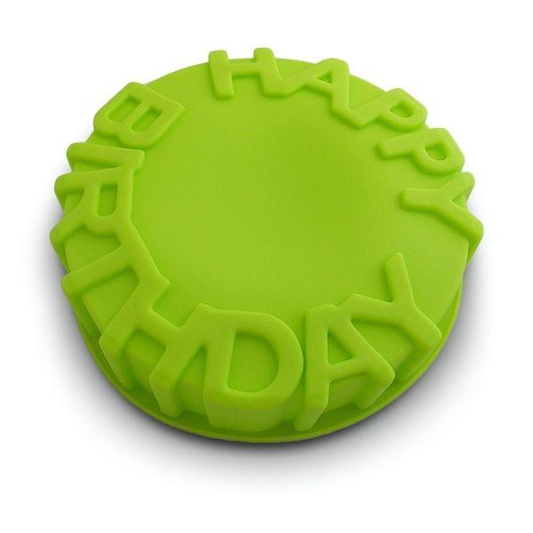 Totalcadeau Moule à gâteau silicone inscription happy birthday